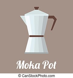 vector coffee moka pot