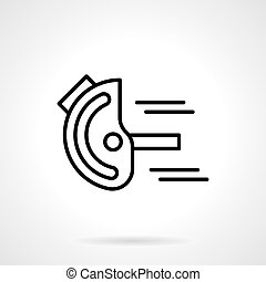 Goniometer black line vector icon - Measurement tools and...