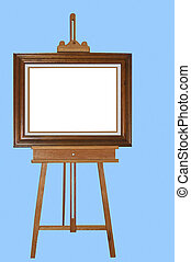 Blank Canvass - A photo of an easle with picture frame and...