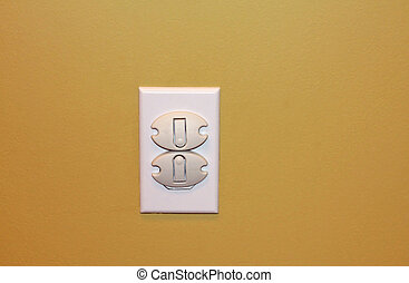 Child Proof Plug - A photo of an electrical plug that has...