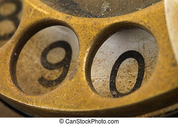 Close up of Vintage phone dial - 0 - Close up of Vintage...