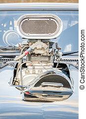 vieux, supercharged, véhicule, moteur,