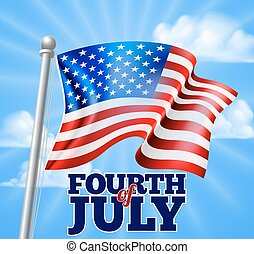 Fourth of July Independence Day Flag Design
