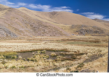View of Andes mountains, Peru - View of Andes mountains,...
