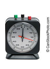 Timer clock isolated on a white background, with clipping...