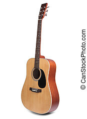 Acoustic Guitar Isolated - Acoustic guitar is isolated on...