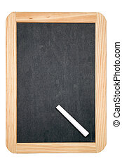 Blackboard writing tablet and white chalk, includes a...