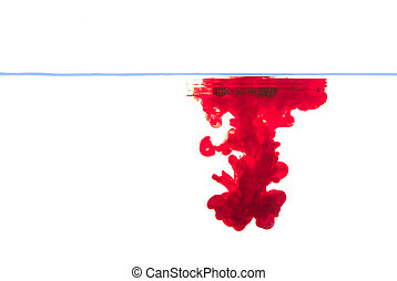 Red ink water