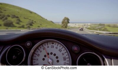 Driving a car along a rural highway - Drivers perspective of...