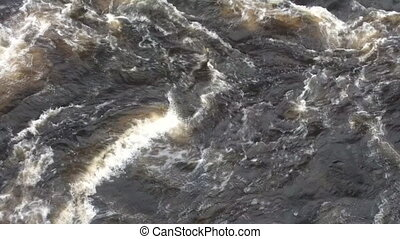 Powerful swirl of falling water from dam 1 - Powerful swirl...