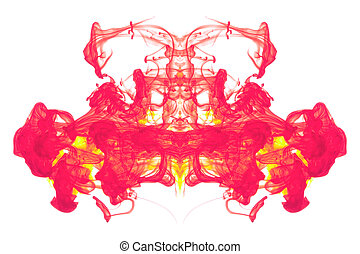 Red and Yellow ink abstract