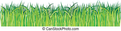 Green grass vector element
