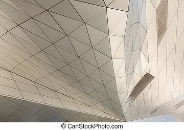 curving roof building - Modern building with curving roof...