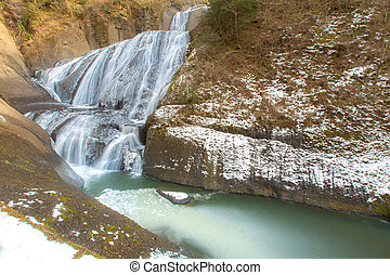 Fukuroda Fall Winter - Fukuroda Falls Waterfall in Ibaraki...