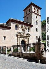 San Pedro Church, Granada. - San Pedro church along the...