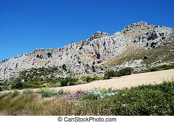 Karst Landscape, Antequera - View of Karst mountains in El...