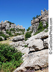 Karst mountains, Alora - View of Karst mountains in El...