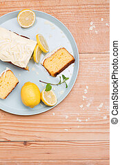 view on set lemon cake - set with lemon cake and lemon...