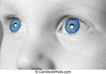 Blue eyed boy - Close up of a childs eyes