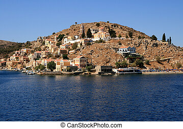 Island Symi - View on island Symi, Greece