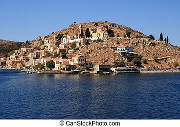 Island Symi - View on island Symi, Greece