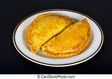 Vegetarian pasties - Two freshly cooked homemade vegetarian...