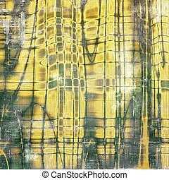 Vintage background in scrap-booking style, faded grunge texture with different color patterns: yellow (beige); brown; green; gray