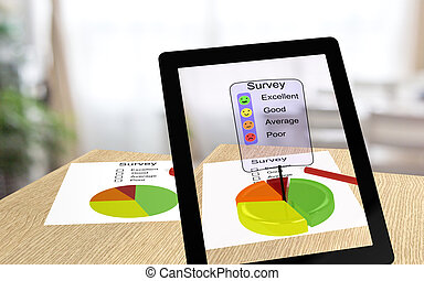 Augmented reality survey - 3D illustration of augmented...