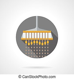 Industrial sowing flat color design vector icon -...