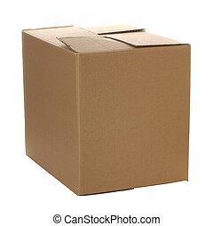 cerrado, cartón, caja