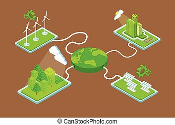 Green Planet Charge Fromm Station Solar Energy Panel Wind Turbine Tower Recycle Technology Battery