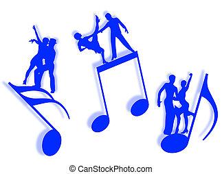 música, dança