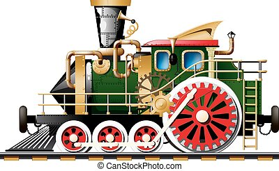 Steampunk Steam locomotive - Fictional Steampunk Steam...