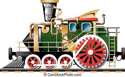 Steampunk Steam locomotive - Fictional Steampunk Steam...