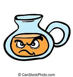 angry lemonade jug cartoon illustration