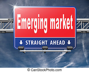 Emerging market new fast growing economy frantic economies,...