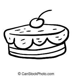 black and white cherry cake