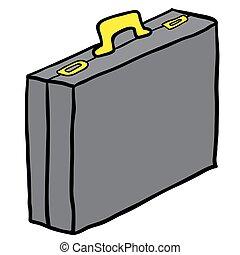 cartoon briefcase - simple cartoon briefcase