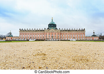 New Palace, Potsdam - New Palace in Sanssouci Park, Potsdam,...