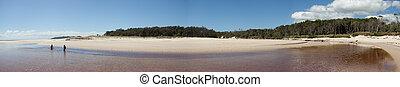 Byron Bay Panorama - Empty Beach, Byron Bay