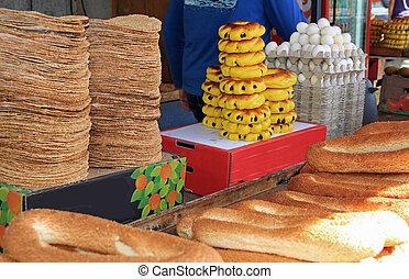 Breads in an Israeli Market
