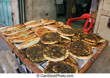 Two Kinds of Pita Breads in an Isra