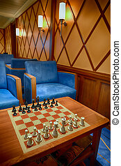 Chess game on a relaxation room