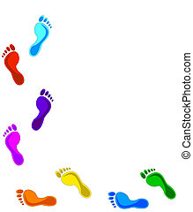 Footprints - colorful Footprints - design elements. Vector...