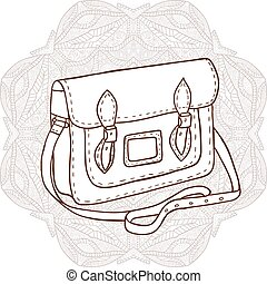 Bag with an ornament in the background