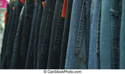 Jeans In Shop in Store Mall