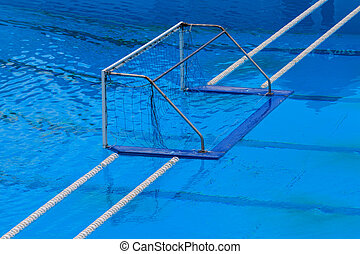 water polo goal gate - Water polo goal gate in swimming pool