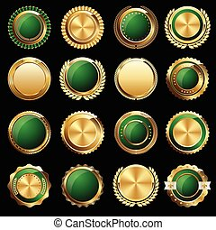 Certificate Seals and Badges - Set of Gold Certificate Seals...