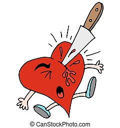 stabbed in the heart metaphor - An image of a stabbed in the...