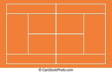 Template realistic tennis court with lines . vector